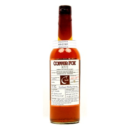Copper Fox Rye American Grain Spirit 0,70 Liter/ 45.00% Vol