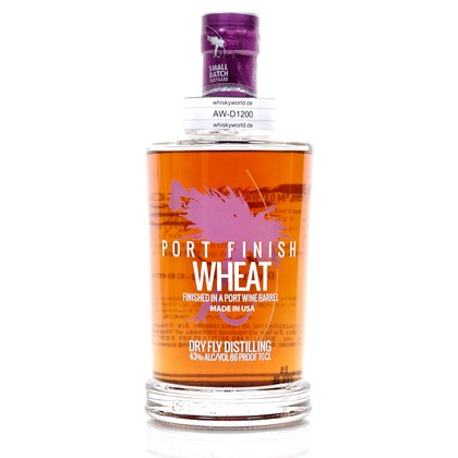DRY FLY Port Finish Wheat Whiskey Finished In A Wine Barrel 0,70 Liter/ 43.00% Vol
