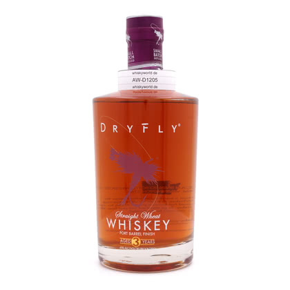 DRY FLY Straight Wheat Port Barrel finish 3 Jahre 45.00% 0,70l Produktbild