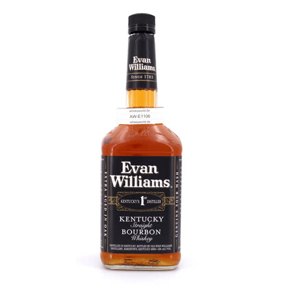 Evan Williams Black Label Literflasche 43.00% 1l Produktbild