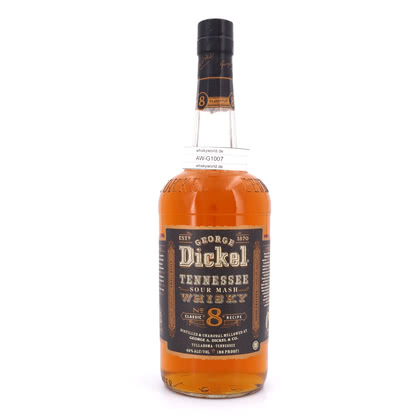 George Dickel Old No. 8 Sour Mash Whisky 40.00% 1l Produktbild
