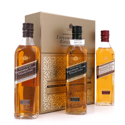 Johnnie Walker Johnnie Walkers Explorers Club Collection Trade Route Series (Spice, Gold, Royal je 0,20l) 40.00% 0,60l Produktbild