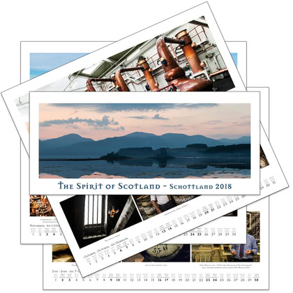 Heinz Fesl Panorama-Wandkalender 2018 The Spirit of Scotland 1 Stück