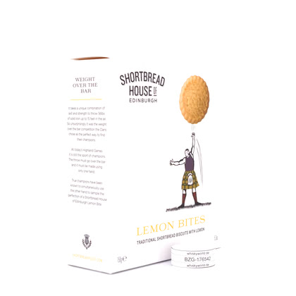 Shortbread House of Edinburgh Shortbread Kekse mit Lemon Bites  150Gramm Produktbild