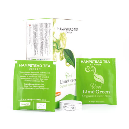 Hampstead Tea BIO Organic Cool Lime Green Tea 20 Teebeutel 40Gramm Produktbild