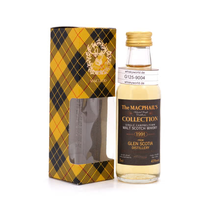 Glen Scotia The MacPhail`s Collection Miniatur Jahrgang 1991 43.00% 0,050l Produktbild