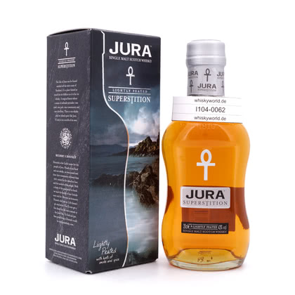 Isle of Jura Superstition lightly Peated Kleinflasche 43.00% 0,20l Produktbild