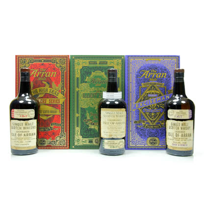Isle of Arran Smugglers Edition Series #1; #2 & Volume Three je 0,70l #1 56,40%Vol; #2 55,40%Vol & Volume Three 56,80%Vol. 2,10 Liter/ 56.2% vol