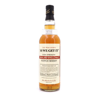 Ian Macleod as we get it Highland Single Malt Cask strength 64.60% 0,70l Produktbild