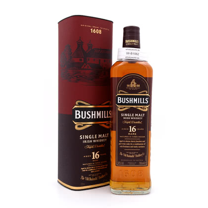 Bushmills 16 Jahre Single Malt Three Woods 40.00% 0,70l Produktbild