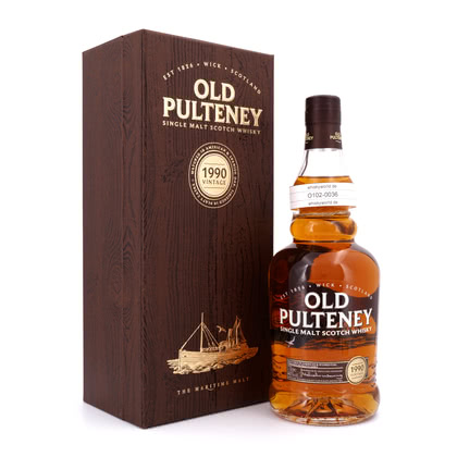 Old Pulteney Jahrgang 1990 Matured in American & Spanish Oak finished in Peaty Casks 46.00% 0,70l Produktbild