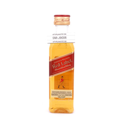 Johnnie Walker Red Label Miniatur PET-Flasche 40.00% 0,050l Produktbild