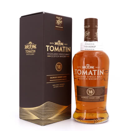 Tomatin 18 Jahre finish in Oloroso Sherry Butts  46.00% 0,70l Produktbild