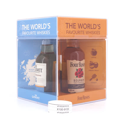 Chivas Brothers The world`s favourite whiskies Miniatur je 5cl Jameson, Four Roses, Chivas Regal 12 y.o. & The Glenlivet Founder`s Reserve 0,20 Liter/ 40.00% Vol