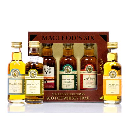 Ian Macleod Scotch Whisky Trail Miniaturen (6 x 0,05l) 4 Stück Single Malt, 1 Stück Single Grain, 1 Stück Blended 8 Jahre 40.00% 0,30l Produktbild