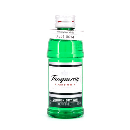 Tanqueray London Dry Gin Export Strength Miniatur (PET-Flasche) 47.30% 0,050l Produktbild