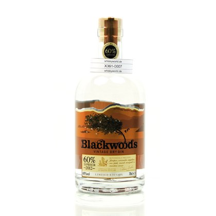 Blackwood`s Vintage Dry Gin Limited Edition Jahrgang 2012 0,70 Liter/ 60.00% Vol